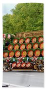 Beer Barrels On Cart Beach Towel