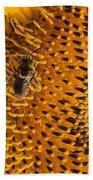Bee's Sunflower Beach Towel