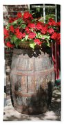 Begonias In The Barrel Beach Towel