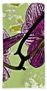 Behind The Orchids Beach Towel