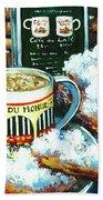 Beignets And Cafe Au Lait Beach Sheet