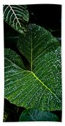 Bejeweled Leaf Beach Towel