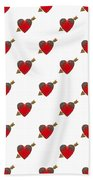Bejewelled Heart Half Drop Beach Towel