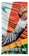 Belfast Mural - Mandella - Ireland Beach Towel