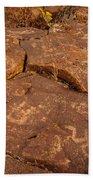 Belfast Petroglyph 6 Beach Towel