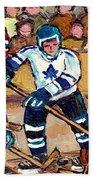 Bell Center Hockey Art Goalie Carey Price Makes A Save Original 6 Teams Habs Vs Leafs Carole Spandau Beach Towel