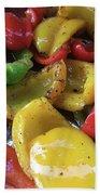 Bell Peppers Original Iphone Photo Beach Towel by Visual Artist Frank Bonilla
