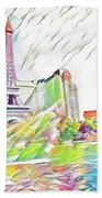 Bellagio Fountains Beach Towel