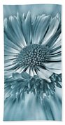 Bellis In Cyan  #flower #flowers Beach Towel