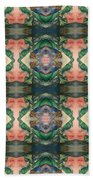 Belly Dance Mirror Image Beach Towel