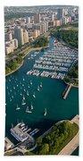Belmont Harbor Chicago Beach Towel