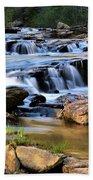 Below Toccoa Falls Beach Towel
