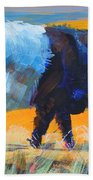 Belted Galloway Cow Side View Beach Towel