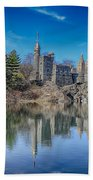 Belvedere Castle And Turtle Pond Beach Towel