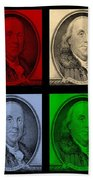 Ben Franklin In Colors Beach Towel