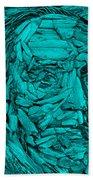 Ben In Wood Turquoise Beach Towel