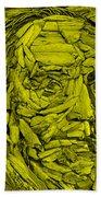Ben In Wood Yellow Beach Towel