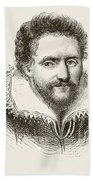 Ben Jonson 1572 To 1637. English Beach Towel