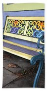 Bench Of Color Beach Towel