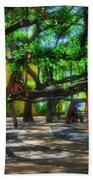 Beneath The Banyan Tree Beach Towel