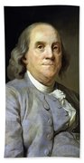 Benjamin Franklin Painting Beach Sheet