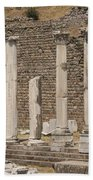 Bergama Colonnade Ruins Beach Towel