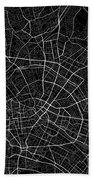 Berlin Germany Dark Map Beach Towel