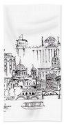 Berlin Medley Monochrome Beach Towel