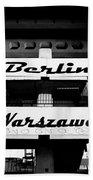 Berlin To Warsaw Frame 1  Beach Towel