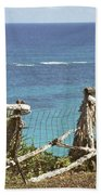 Bermuda Fence And Ocean Overlook Beach Towel