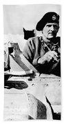 Bernard Law Montgomery Beach Towel by War Is Hell Store