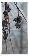 Berries Of Blue Beach Towel