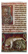 Bestiary: Lion Beach Towel