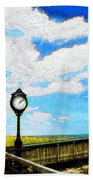 Bethany Beach Clock Beach Towel