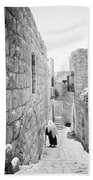 Bethlehem - Old Woman Walking 1933 Beach Towel