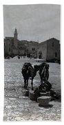 Bethlehem Street Scene 1911 Beach Towel