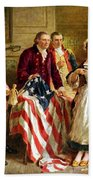 Betsy Ross And General George Washington Beach Sheet