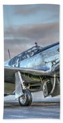 Betty Jane P51d Mustang At Livermore Beach Towel