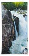 Betws-y-coed Waterfall In North Wales Beach Towel
