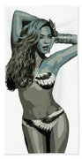 Beyonce Cutout Art Beach Towel