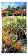 Beyond The Red Flowers Beach Towel