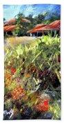 Beyond The Red Flowers Beach Sheet