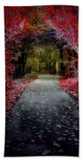 Beyond The Red Leaves Beach Towel