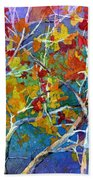 Beyond The Woods - Orange Beach Towel