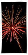 Bi-color Fireworks 2 Beach Towel