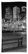 Bicycle On The Plein At Night - The Hague  Beach Towel