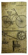 Bicycle Patent  1890 Beach Towel