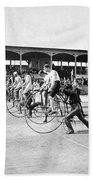 Bicycle Race, 1890 Beach Towel