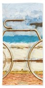Seaside Bicycle Stand Beach Towel