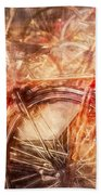 Bicycles In Amsterdam Beach Towel by Richard Anderson